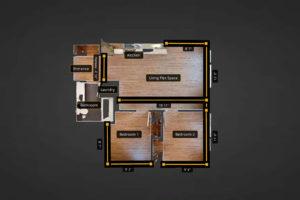 2-Bedrooms-FloorPlan-Measurements